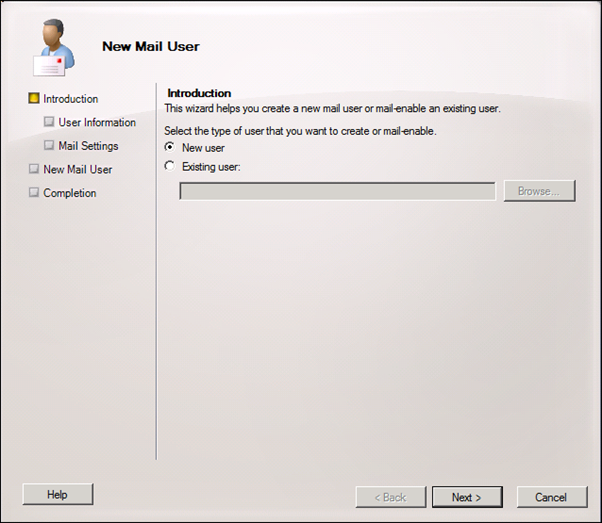 how to create mail id in exchange server 2010