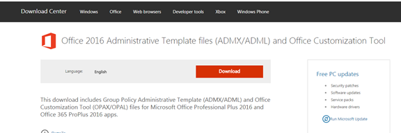 install microsoft office 2016 administrative templates