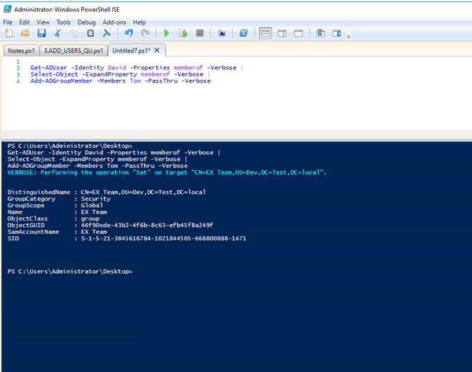 Active Directory Powershell Copy Group Membership From One