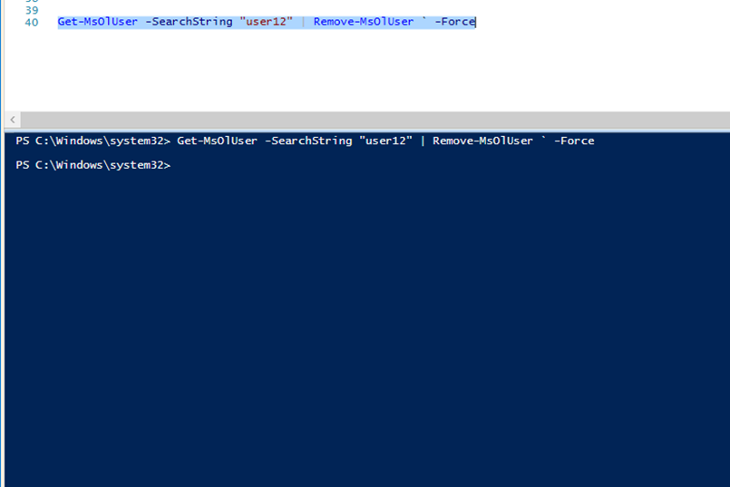 Delete An Office 365 User Using PowerShell